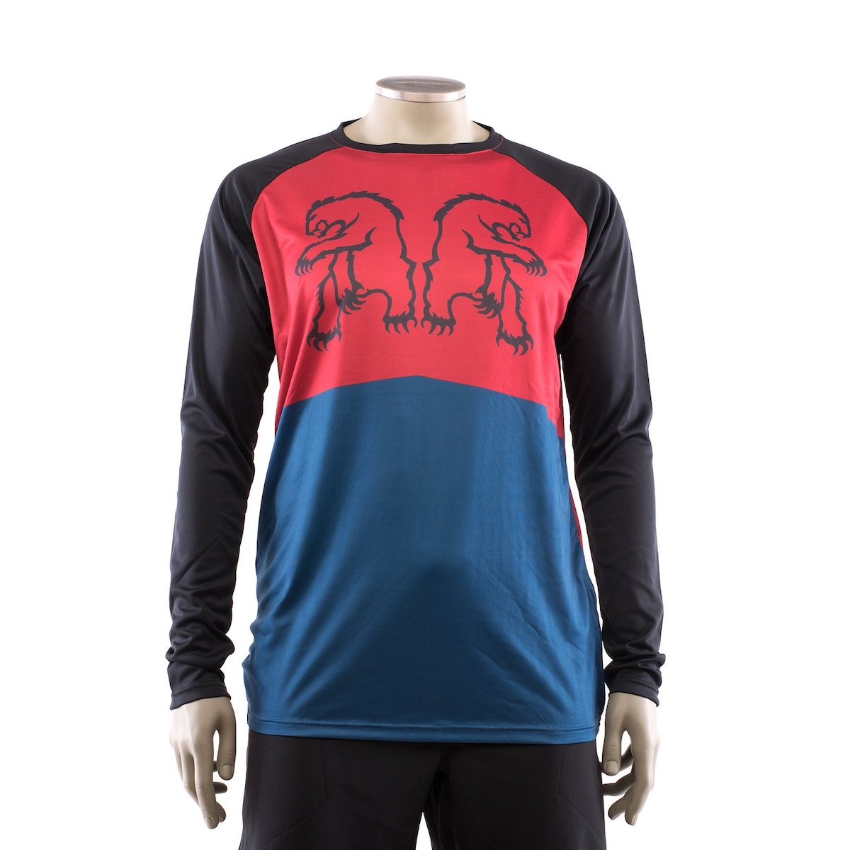 Jersey LS Dominion Reflect Red/Navy